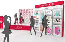 In-Store Mood Board Ads - This JC Penney Campaign Involved the Use of Life-Size Pinterest Boards