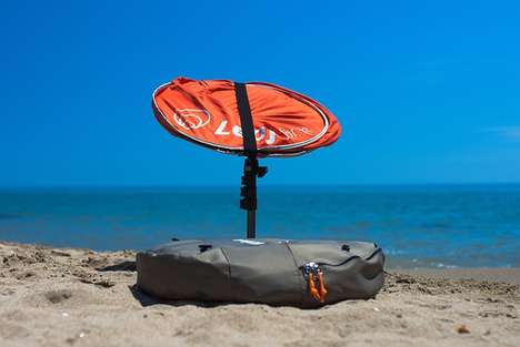 Solar-Powered Parasols - The 'LEAF for life' Solar Parasol Provides Shade and Collects Energy