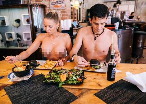 Naked Restaurant Events - The Black Cat Eatery in Berlin Offered Discounts to Nude Patrons