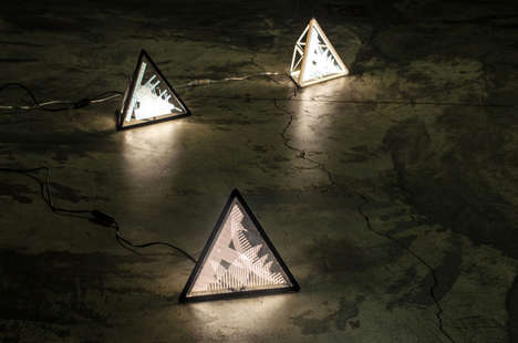 Prismatic Floor Lamps - These Triangle Lamps Are Inspired by City Skylines