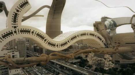 Twisted Cityscape Films - The 'Spatial Bodies' Short Film Imagines a Bizarre City Skyline