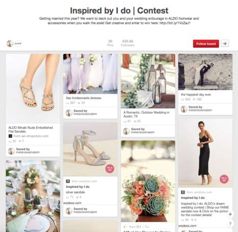 Bridal Footwear Pinboards - Aldo Engaged Brides on Pinterest with a Wedding Footwear Contest