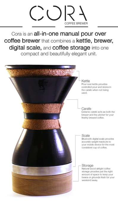 Multi-Functional Coffee Brewers - This Dynamic Coffee Maker Could Speed Up the Coffee-Making Process