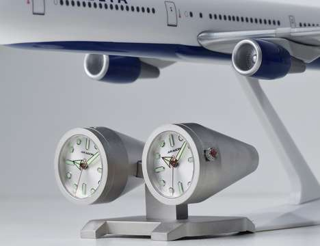 Jet Engine Chonorgraphs - The 'Jet Clock' is a Model Aeroplane Complete With Two Clock Motors