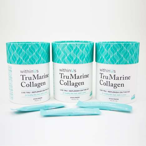 Travel Collagen Sachets - The TruMarine Collagen Stick Packs Are Designed to Add to Water and Food