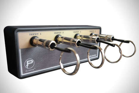 Musical Amp Keyrings - The Jack Rack Turns Guitar Amplifier Outlets Stylish Plug-In Key Holders