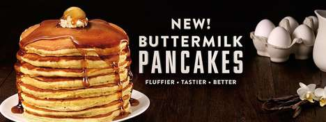 Ultra-Fluffy Buttermilk Pancakes - Denny's New Buttermilk Pancake Recipe is Tastier Than Ever Before