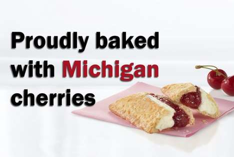 State-Inspired Cherry Turnovers - McDonald's New Cherries 'N Creme Pie is a Michigan-Specific Dish