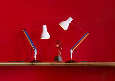 Primary Color Desk Lamps - Designer Paul Smith Added to a Collaborative Collection with Anglepoise