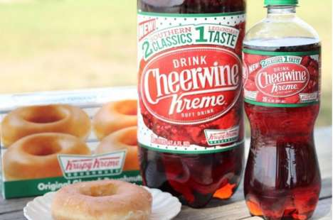 Co-Branded Donut-Flavored Sodas - 'Cheerwine Kreme' Combines Cherry Soda with the Taste of Donuts