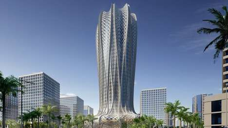 Hyacinth-Inspired Skyscrapers - This Skyscraper in Qatar Borrows Design Cues From a Desert Flower