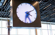 Real Time Clock Displays - The 'Schiphol Clock' Creates the Illusion of Having a Man Inside of It