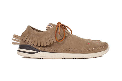 Revitalized Moccasin Sneakers - Visvim's Moccasin Shoes Were Updated with a New Model and Colorways