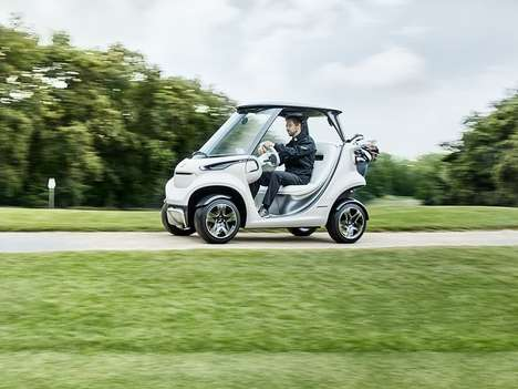 Opulent Golf Carts - Mercedes' New Golf Cart Offers Interior Luxury and High-Tech Features