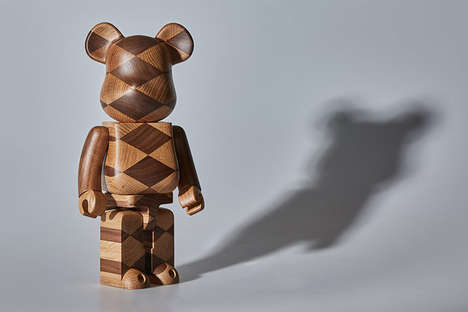 Woven Wood Bear Toys - Medicom Toy and Karimoku Collaborated for a Woven Wood Bearbrick Edition
