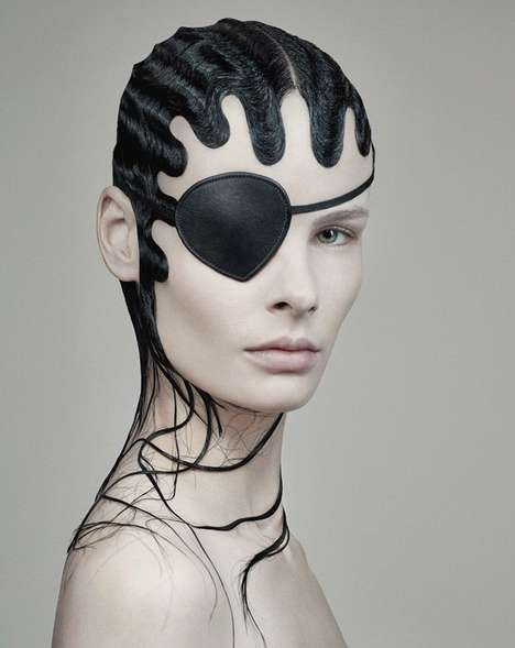 Transformative Hair Photography - Fabien Baron's 'Black Magic' Editorial Features Bold Beauty Looks
