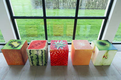 Photo-Finished Cube Furniture - This Coated Foam Furniture Boasts Real-Life Images on its Designs