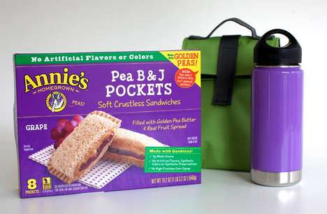 Frozen Peanut Butter Sandwiches - Annie's New Pea B&J Pockets are a Healthy Snack Option for Kids