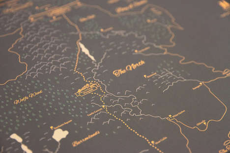 Granular Fantasy Cartography - This Hand-Drawn Map Details the Complete Game of Thrones Realm
