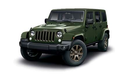 Commemmorative Iconic SUVs - The 75th Anniversary Jeep Wrangler Blends Classic and Modern Cues