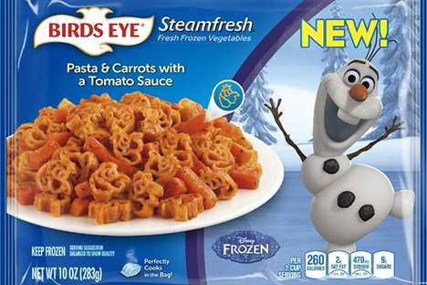 Disney Character-Branded Meals - These Healthy Side Dishes are Branded with Disney Characters