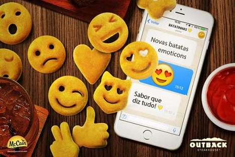 Emoji-Themed Potato Snacks - The New McCain Emoticons are a Kid-Friendly Side Dish