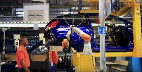 Symbiotic Assembly Robots - Ford's Assembly Plants Have Humans and Kuka Robots Work Side-by-Side