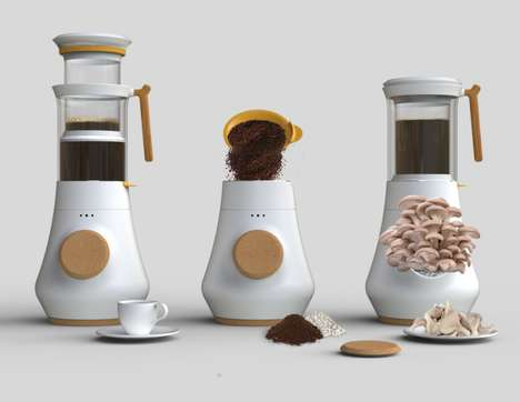 Fungi-Cultivating Coffee Makers - The HIFA Drink Brewing System Recycles Coffee Grounds into Plants