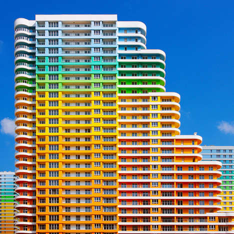 Kaleidoscopic Rainbow Buildings - Yener Torun's Photos Explores Istanbul's Technicolor Architecture