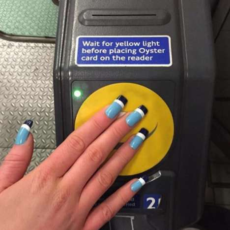 Transportation Card Manicures - These Acrylic Nails Double as Transportation Passes
