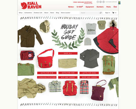 Mood Board Outerwear Campaigns - This Fjallraven Holiday Campaign Features a Pinterest-Themed Layout