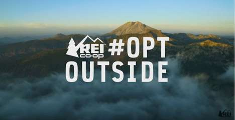 Anti-Consumerism Outdoor Ads - The REI #OptOutside Campaign Discourages Black Friday Shopping