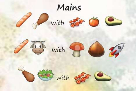 All-Emoji Resturant Menus - The Little Yellow Door's Menu is Written Entirely in Emojis