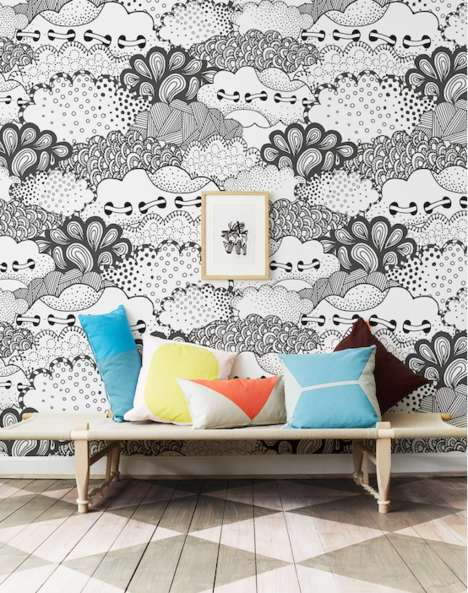 Color-In Wallpapers - Murals Wallpaper Designed Wallpapers That Consumers Can Color In