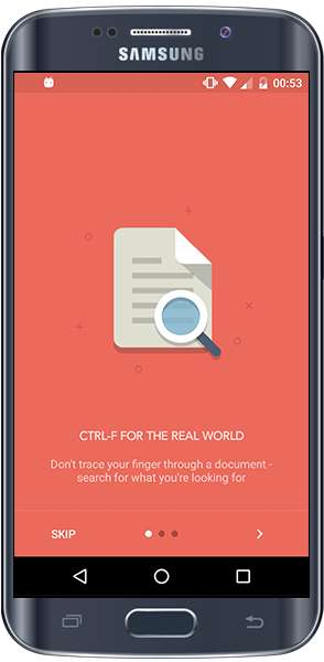 Document-Searching Camera Apps - 'CTRL-F' Acts Like the Keyboard Function, But for Printed Documents