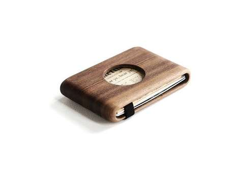 Wooden Cutout Wallets - The IPPINKA 'Wood Wallet' For Men Keeps Cards in Place with a Solid Exterior