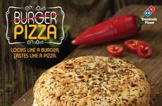 Burger-Shaped Pizzas - Domino's India is Selling an Unusual Burger-Inspired Pizza