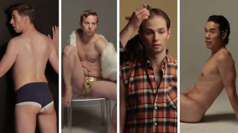 Unobtainable Body Parodies - Buzzfeed Shows Men Trying to Fit into the Ideal Female Body Image