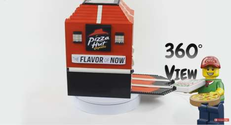 LEGO Pizza Dispensers - This Pizza Hut Vending Machine is Made Entirely Out of LEGO Bricks