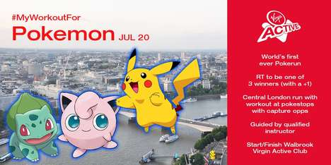 Gamified Anime Marathons - Runners Can Play 'Pokémon Go' at Virgin Active's 'Pokérun'