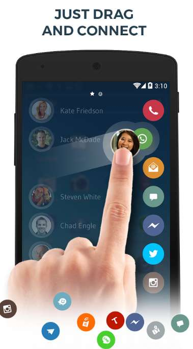 One-Touch Contact Apps - 'Drupe' Collects All of a Friend's Social Contacts in One Place