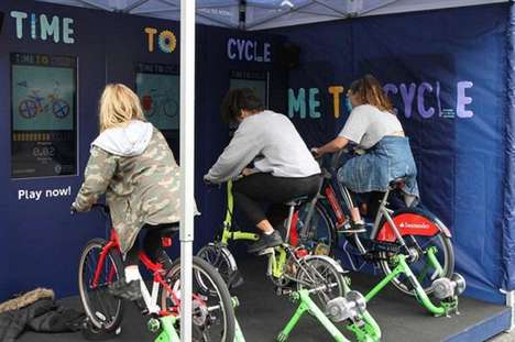 Gamified Cycling Stunts - TfL's 'Time to Cycle' Initiative Encourages the Public to Begin Biking