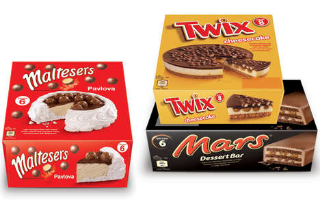 Candy Bar-Flavored Desserts - These Frozen Desserts are Inspired by Popular Chocolate Brands