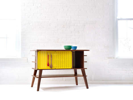 Old-Fashioned Kitchen Islands - This Wood Kitchen Island Was Inspired by Mid-Century Home Decor