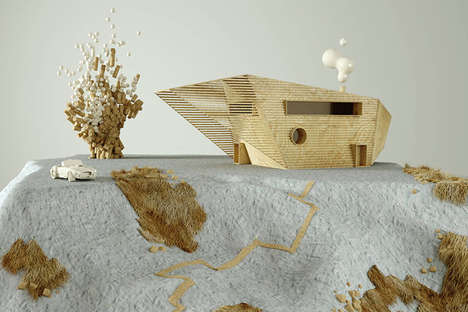 Digital Cottage Designs - 'Jutland' Depicts Fanciful Homes Using 3D Renderings