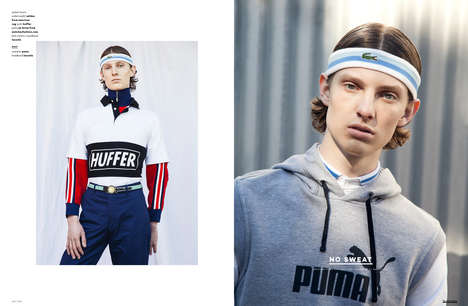 Retro Athleticwear Editorials - The Ones 2 Watch 'No Sweat' Series Spotlights Sporty Men's Fashion