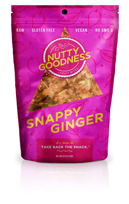 Nutty Fruit Leather Snacks - The 'Nutty Goodness' Range is a Healthy Alternative to Chips