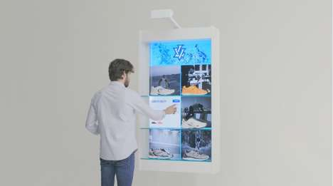 Narrative Sneaker Displays - PERCH Interactive's Shoe Shelving Offers Performance Feature Info