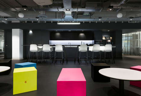 Color-Balancing Office Designs - This Open Plan Office Space is Adaptive for Different Occupations