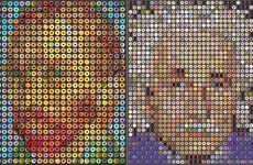 Donut-Drawn Portraiture - Candice CMC's Donut Art Recreates Famous Figures in Edible Form